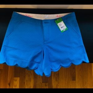 NWT Lilly Pulitzer Buttercup shorts size 4 blue